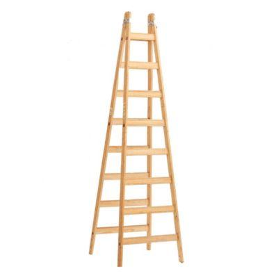 Escalera recta madera 10 escalones