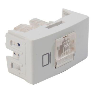 Módulo tomacorriente computación rj45 blanco