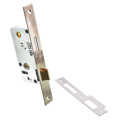 Cerradura para embutir liviana para puerta de b...