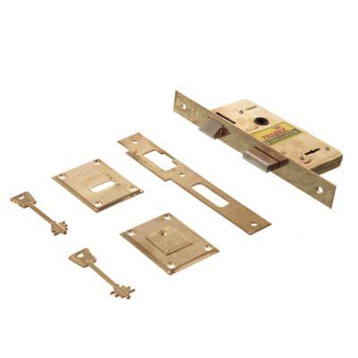 Cerradura pasador rectangular bronce 6621p
