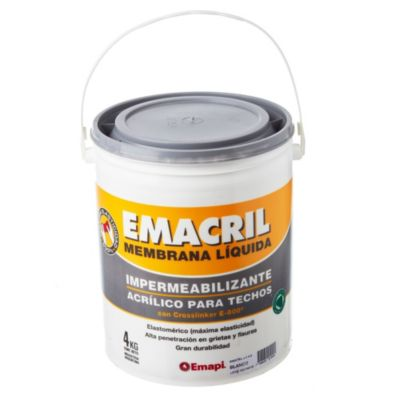 Impermeabilizante para techos blanco 4 kg