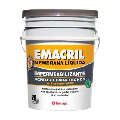 Membrana líquida impermeabilizante para techos blanco 20 kg