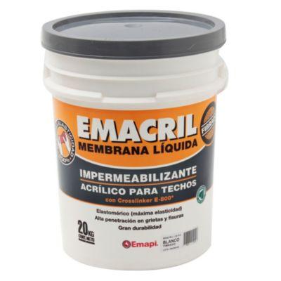 Membrana líquida Impermeabilizante para Techos Fibrado blanco 20 kg