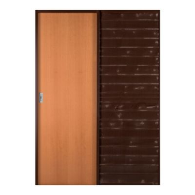 Puerta de embutir corrediza cedro 60 x 200 x 10 cm derecha