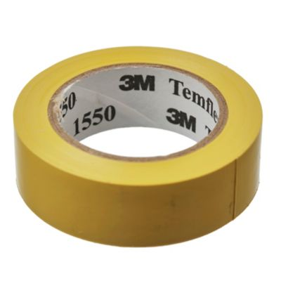 Cinta aisladora Temflex 1550 amarilla 18 mm x 10m