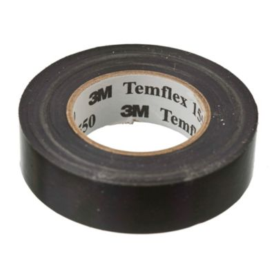 Cinta aisladora Temflex 1550 negra 18 mm x 20m