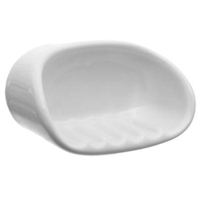 Jabonera de loza sanitaria blanca
