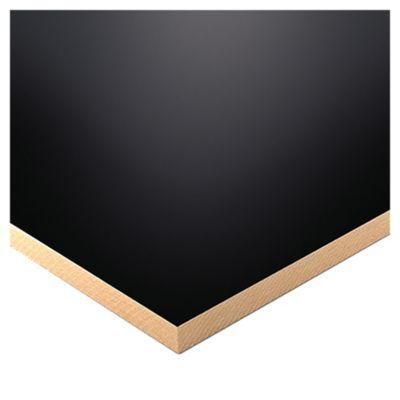 Melamina negro 18 mm 183 x 260 cm