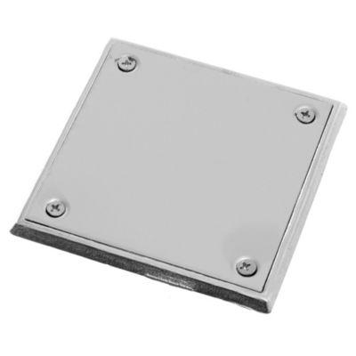 Tapa de acero inoxidable de 10 x 10 cm con plomo