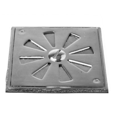 Reja tapa giratoria de bronce 11 x 11 cm