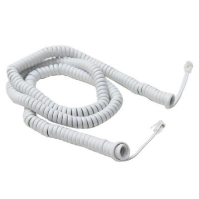 Cable espiral teléfono blanco 8 m