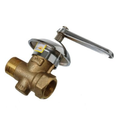 Llave para gas reforzada con roseta 3/4 mh