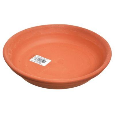 Plato para macetas de barro marrón claro