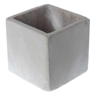 Maceta cemento cubo 15 x 15 cm