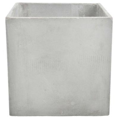 Maceta cubo de cemento gris