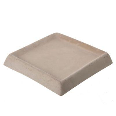 Plato para macetas de cemento gris