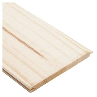 """Machimbre madera de pino 1/2"""" x 5"""" x 3.66 m"""