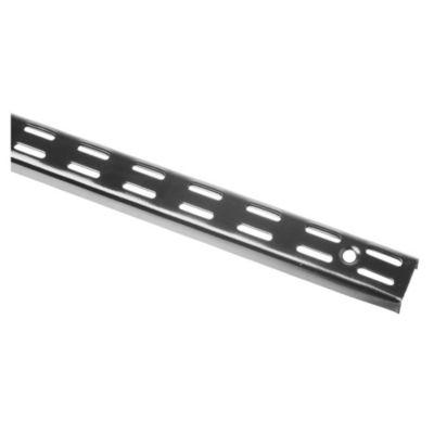 Riel para mensula doble negro 150 cm