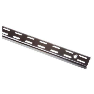 Riel para mensula doble negro 200 cm