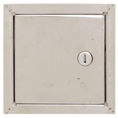 Puerta para llave de agua de acero 15 x 15 cm