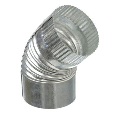 Curva corrugada fija de 45° 100 mm