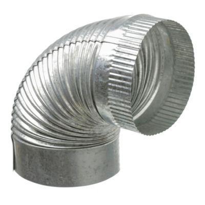 Curva corrugada fija de 90° 100 mm