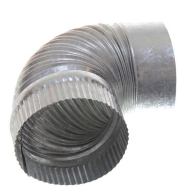 Curva corrugada fija de 90° 125 mm
