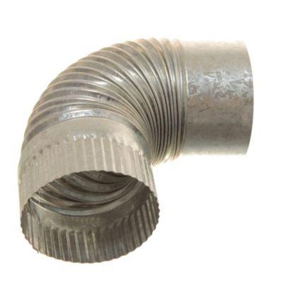 Curva corrugada fija de 90° 150 mm