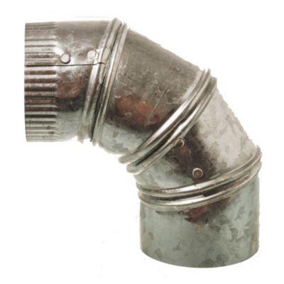 Curva de chapa galvanizada articulada regulable 75 mm