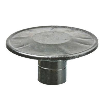 Sombrerete de chapa galvanizada dos aros 75 mm