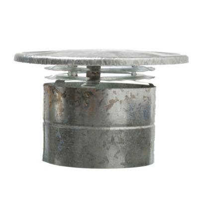 Sombrerete de chapa galvanizada dos aros 150 mm