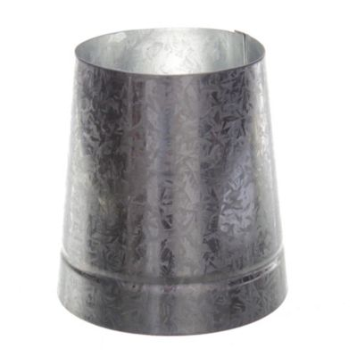 Reducción cónica en chapa galvanizada 100 x 120 mm