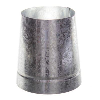 Reducción cónica en chapa galvanizada 100 x 150 mm