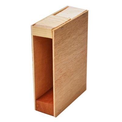 Caja de madera para cortina de enrollar 4 m