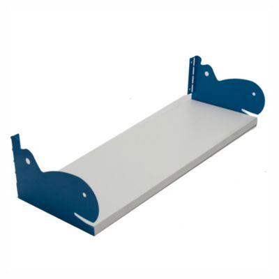 Kit de estantes blanco Hipopotamo azul 20 x 60 cm