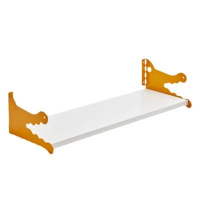 Kit de estantes blanco Cocodrilo amarillo 20 x 60 cm