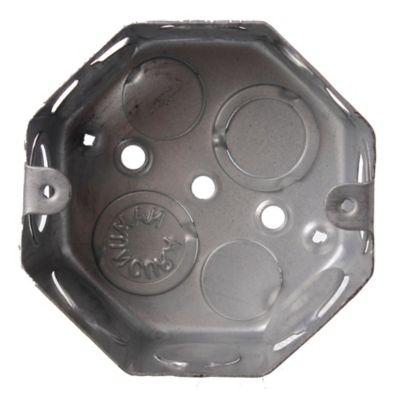 Caja de luz de hierro octogonal chica 8 cm