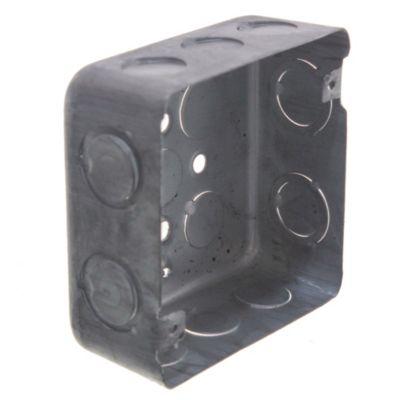 Pack de 5 u cajas de luz de hierro cuadradas