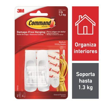 Ganchos Command mediano blanco