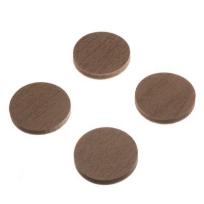 Topetina circular Simil madera por 4 u
