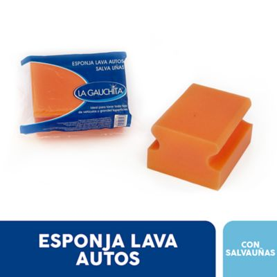 Esponja lava autos con protector de uñas