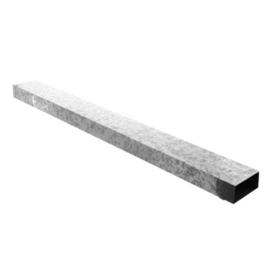 Caño rectangular 50 mm x 100 mm x 1 m