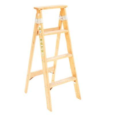 Escalera tijera madera 4 escalones