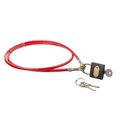 Linga seguridad 6 mm x 1 m estándar con candado 3 llaves