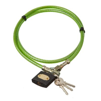 Linga seguridad 8 mm x 1 m mediana con candado 3 llaves