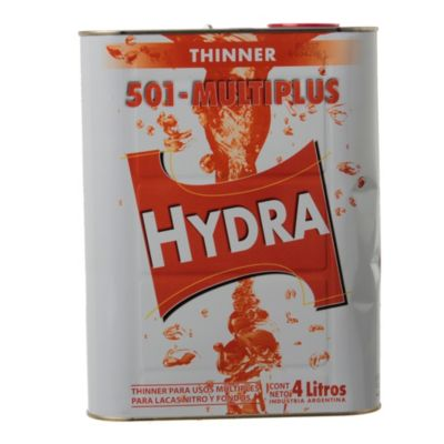Diluyente thinner hydra 501 multiplus 4 l