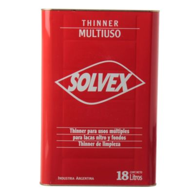 Diluyente thinner solvex multiuso 18 l