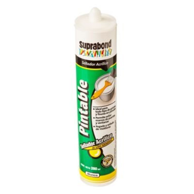 Sellador acrílico pintable blanco 280 ml