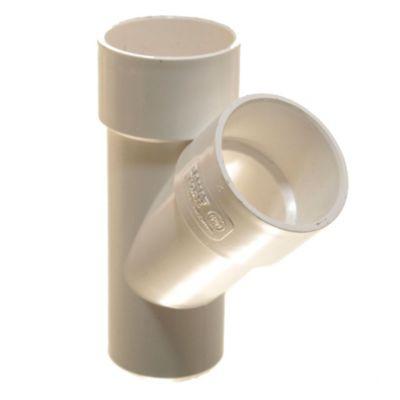 Ramal invertido de PVC a 90° 50 x 50 mm