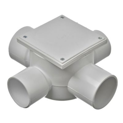 Boca de acceso para cocina PVC de 63 x 50 mm